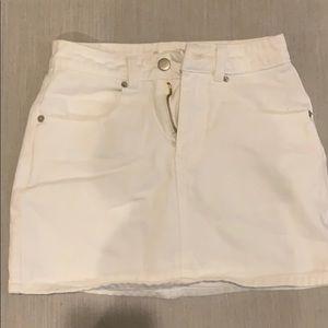 White denim star skirt